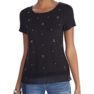 WHBM Embellished Top